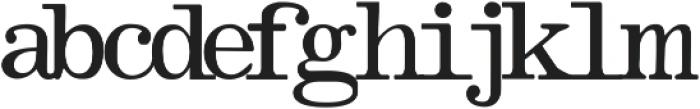 OlivettiTypewriter Regular ttf (400) Font LOWERCASE
