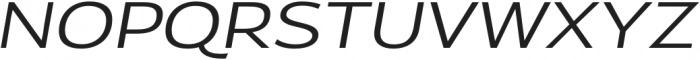 Oliviar Sans UltraLight Italic Expanded otf (300) Font UPPERCASE