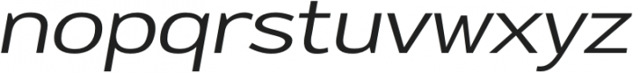 Oliviar Sans UltraLight Italic Expanded otf (300) Font LOWERCASE