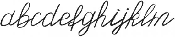 Olster otf (400) Font LOWERCASE