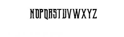 OldExcalibur-grunge.otf Font UPPERCASE