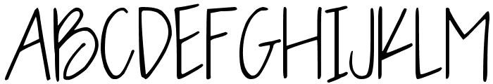 OLIVE CHARMING Font UPPERCASE