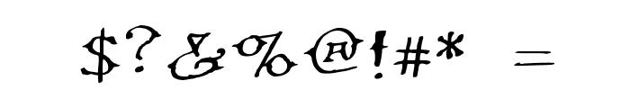 Ol' Wes' Rustik for Mac Medium Font OTHER CHARS