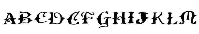 Ol' Wes' Rustik for Mac Medium Font UPPERCASE