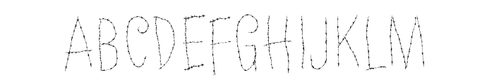 Old Barbwire Font UPPERCASE