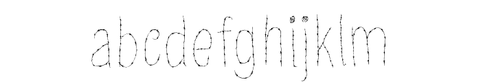 Old Barbwire Font LOWERCASE