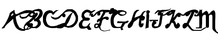 Old Champion Font UPPERCASE