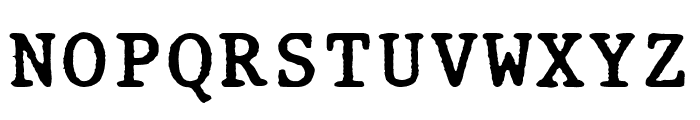 Old Computer Manual Monospaced Font UPPERCASE