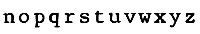 Old Computer Manual Monospaced Font LOWERCASE