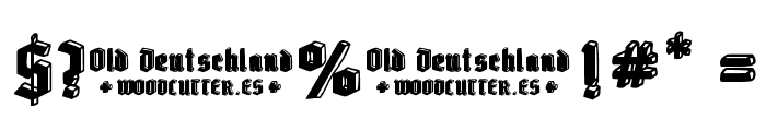 Old Deutschland Font OTHER CHARS