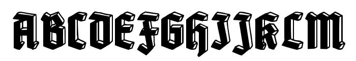 Old Deutschland Font UPPERCASE