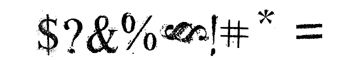 Old Dreams Font OTHER CHARS