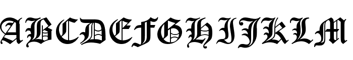Old English Five Font UPPERCASE