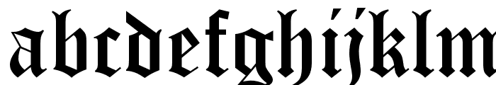 Old English Five Font LOWERCASE