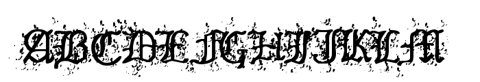 Old English Hearts Font UPPERCASE