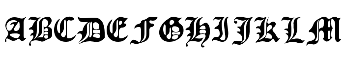 Old Europe Font UPPERCASE