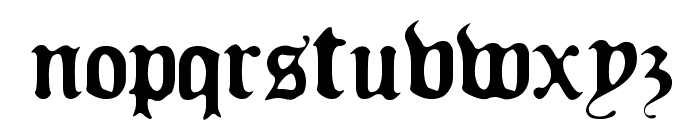 Old Europe Font LOWERCASE