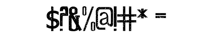 Old Excalibur Grunge Font OTHER CHARS
