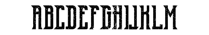 Old Excalibur Grunge Font UPPERCASE