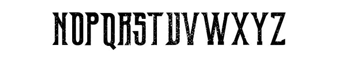 Old Excalibur Grunge Font LOWERCASE