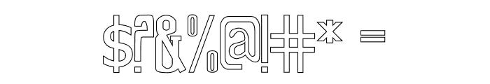 Old Excalibur Stroke Font OTHER CHARS