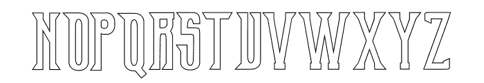 Old Excalibur Stroke Font UPPERCASE