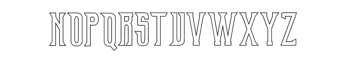 Old Excalibur Stroke Font LOWERCASE