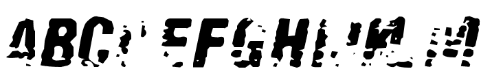 Old Fax Font LOWERCASE