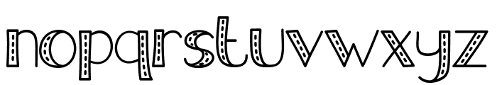 Old Jeans Font LOWERCASE
