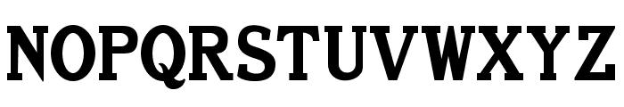 Old Letterpress TypeRegular Font UPPERCASE