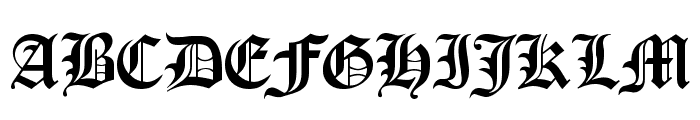 Old London Font UPPERCASE