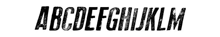 Old Press Italic Font UPPERCASE