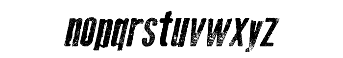 Old Press Italic Font LOWERCASE