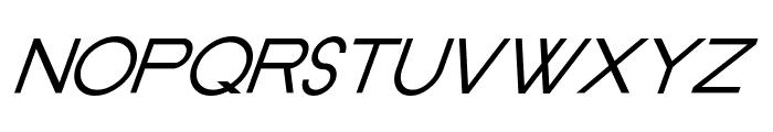 Old Republic Italic Font UPPERCASE