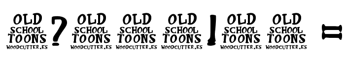 Old School Toons Font OTHER CHARS
