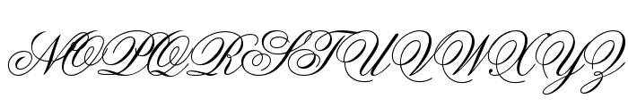Old Script Font UPPERCASE