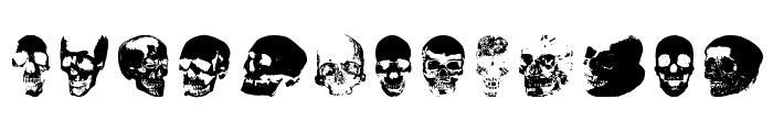 Old Skull Hellron Font UPPERCASE