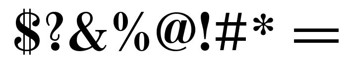 Old Standard Bold Font OTHER CHARS