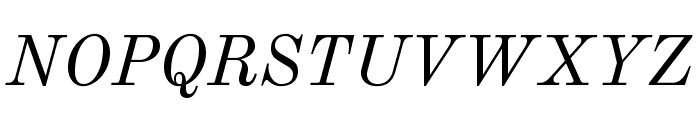 Old Standard Italic Font UPPERCASE