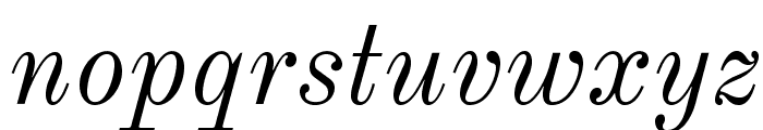 Old Standard Italic Font LOWERCASE
