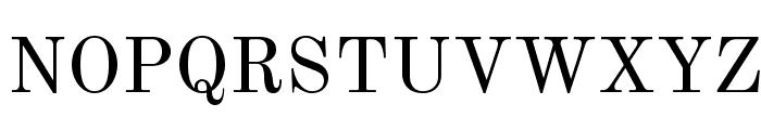 Old Standard Regular Font UPPERCASE