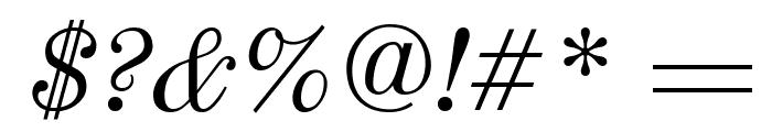 Old Standard TT Italic Font OTHER CHARS