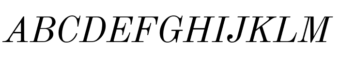 Old Standard TT Italic Font UPPERCASE