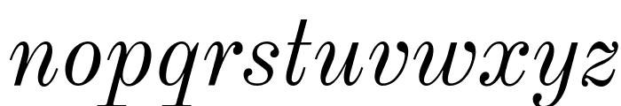 Old Standard TT Italic Font LOWERCASE