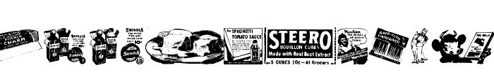 Old Time Ad Dings One Font LOWERCASE