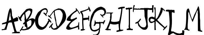 Old Time Villain Font UPPERCASE