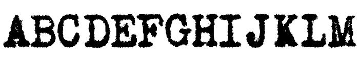 Old Typewriter Messy Font UPPERCASE