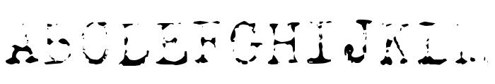 Old Typewriter Skimpy Font UPPERCASE