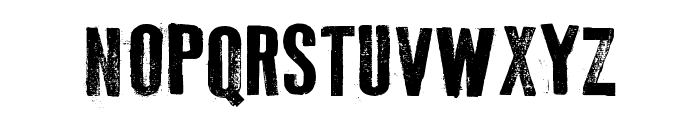 Old Typography Font UPPERCASE