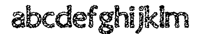 Old Virus Font LOWERCASE